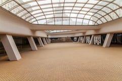 索非亚,保加利亚- 1月03 :罗马大厦废墟在开放地下博物馆,在Serdika地铁车站之间, 1月 图库摄影