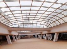 索非亚,保加利亚- 1月03 :罗马大厦废墟在开放地下博物馆,在Serdika地铁车站之间, 1月 免版税图库摄影