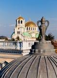 索非亚,圣Aleksander catedral的Newski 免版税图库摄影