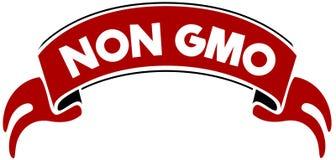 非在红色带的GMO 免版税库存图片