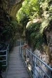 非夏尔峡谷(阿尔卑斯) :小道路 图库摄影