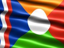 非官方标志的留尼汪岛 免版税库存图片