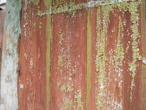 非常与被剥皮的油漆的老侧房 大厦是超过100一百年 免版税库存照片