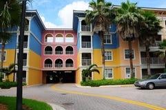 非常五颜六色的大厦 库存照片