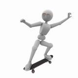 非常凉快的滑板 向量例证