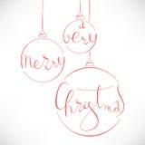 非常圣诞快乐 库存照片