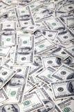 一百元钞票背景-混乱 库存照片