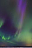 在湖7的极光 库存照片