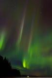 在湖9的极光 库存图片