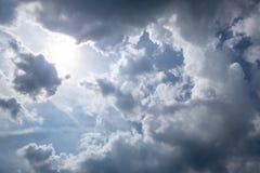 非常多云天空天气 免版税库存照片