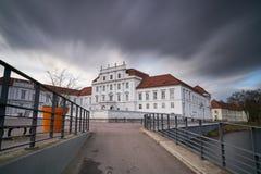 非常多暴风雨的天气的奥拉宁堡 免版税图库摄影