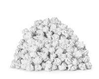 非常大堆被弄皱的纸球 免版税库存照片