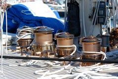非常小船好的regates royale 免版税库存照片