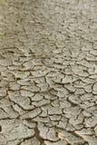 非常干燥破裂的土壤。 图库摄影