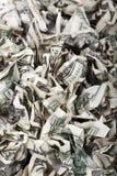 起皱的现金背景 免版税库存照片