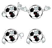 非常恼怒的动画片橄榄球集 库存例证