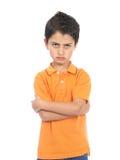非常恼怒的男孩 免版税图库摄影
