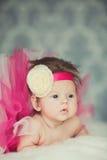 非常甜矮小的女婴画象  免版税图库摄影