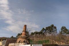 非常生铁的老熔炉 库存照片