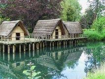非常的公园schoenenwerd的老秸杆房子 免版税库存图片
