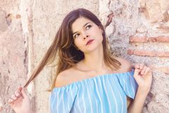非常美丽的女孩 免版税库存图片
