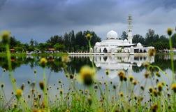 非常美丽的瓜拉Ibai清真寺在登嘉楼 免版税库存照片
