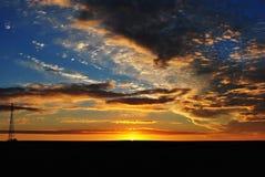 非常美好的日落 夜间 乌克兰 免版税图库摄影