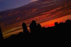 非常美好的视域天空日落 免版税库存图片