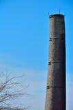 非常老工厂塔,烟囱 库存图片