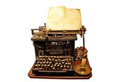 非常老打字机 免版税库存照片