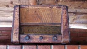 非常老收音机 免版税库存照片