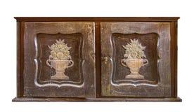 非常老木装饰的内阁 免版税库存图片