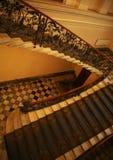 非常老楼梯盒 免版税库存照片