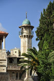 非常老清真寺尖塔 免版税库存图片