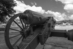 非常老火炮教规在公园 库存图片