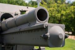 非常老火炮教规在公园 免版税图库摄影