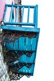 非常老葡萄酒阳台从19世纪, 免版税库存照片