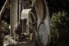 非常老铁路机制在希腊 库存图片