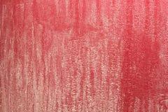 非常肮脏的红色汽车防撞器 免版税库存照片