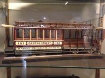 非常详细,一辆早先旧金山缆车的比例模型, 2 免版税库存照片