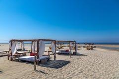 非常豪华旅馆标准在Todos桑托斯,下加利福尼亚州,墨西哥的一个晴天 库存图片