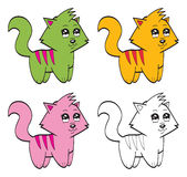 逗人喜爱的动画片猫 图库摄影