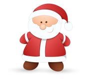 非常逗人喜爱的圣诞老人-圣诞节传染媒介例证 库存图片