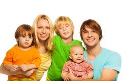 非常逗人喜爱的家庭 免版税图库摄影