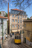 非常里斯本,葡萄牙,欧洲的老部分的旅游地方 免版税库存照片
