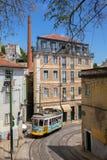 非常里斯本,葡萄牙,欧洲的老部分的旅游地方 库存图片