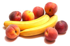 非常鲜美香蕉桃子natyutmotr 免版税库存图片