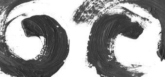 非常HIGHT决议 几何街道画摘要背景 与油帆布冲程作用的墙纸 黑丙烯酸酯 免版税库存照片