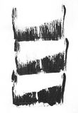 非常HIGHT决议 几何街道画摘要背景 与油帆布冲程作用的墙纸 黑丙烯酸酯 免版税库存图片