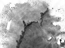 非常HIGHT决议 几何街道画摘要背景 在白皮书的黑丙烯酸漆冲程纹理 免版税库存照片